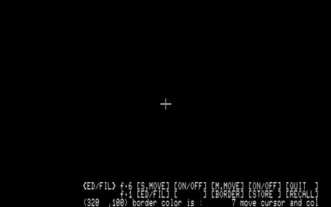 編集画面: Graphic Editor 88 (1984)(Kyoto Computer Brains)