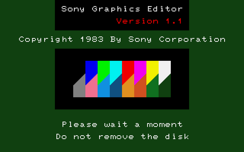 SONY Graphic Editor V1.1 - タイトル画面 (SMC-70)(1982)(Sony)
